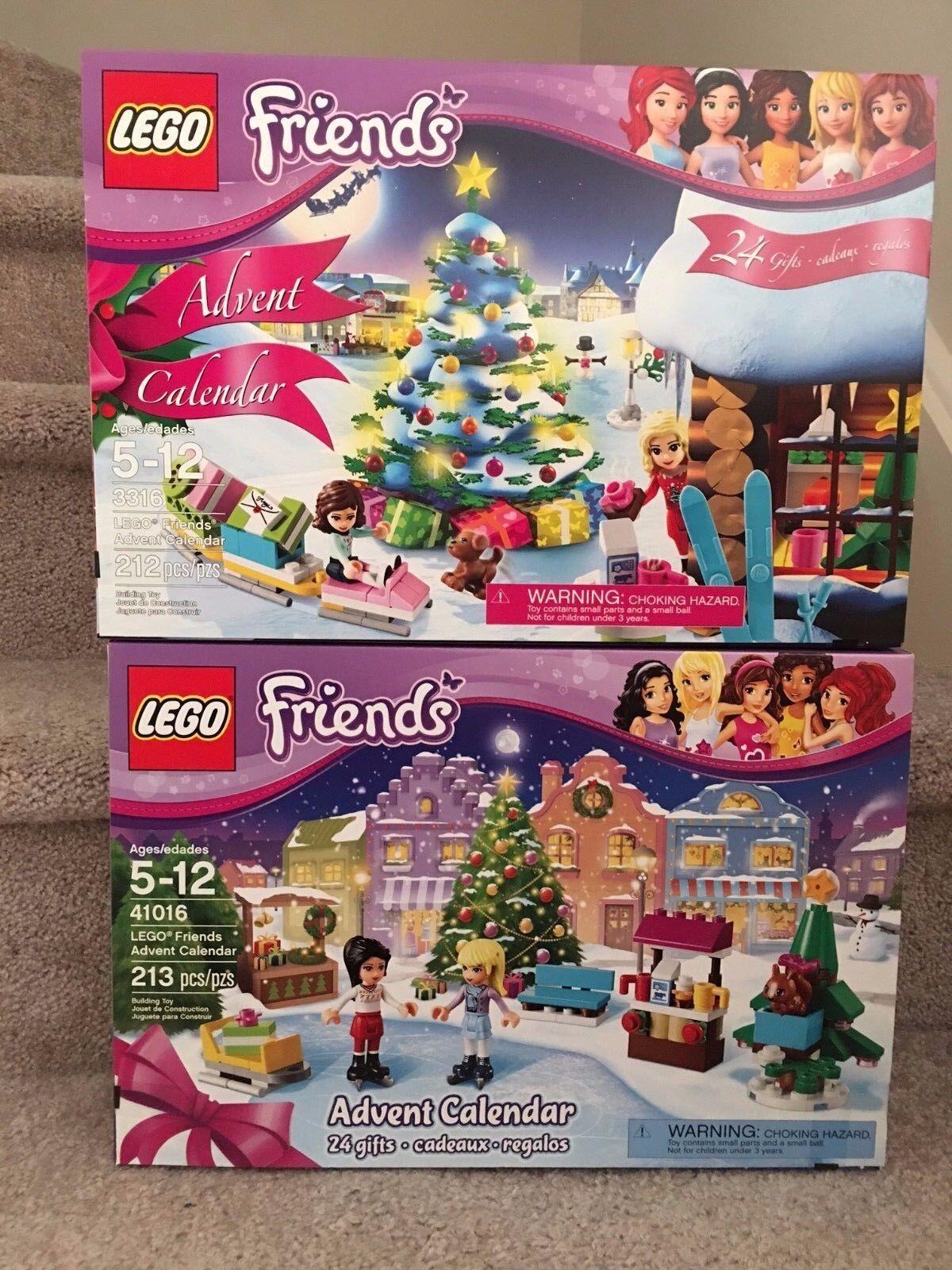 2 NEW Lego Friends Advent Calendar 3316 41016 , SEALED