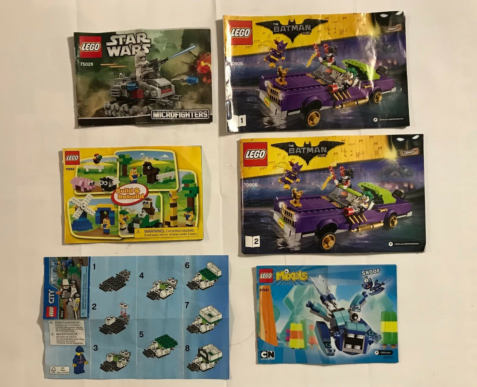 Lego Mega Surtido  Hugh  7-Kit  Lote  cientos de piezas-usado