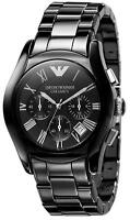 Emporio Armani AR1400 Ceramic Round Black Dial Chronograph Mens Watch