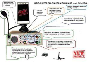 IBRIDO TELCO BROADCAST INTERFACCIA TELEFONICA TRASLATORE TELEFONICOper cellular