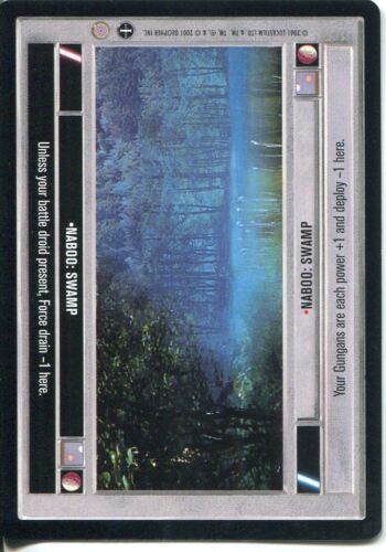 Swamp Light Side Star Wars CCG Coruscant Common Naboo