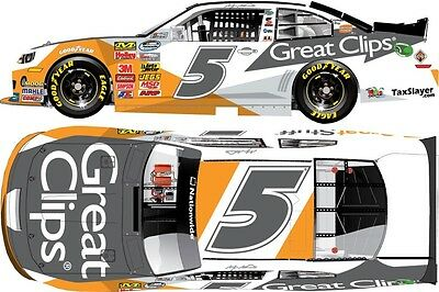 Kasey Kahne 2013 Lionel//Action #5 Great Clips Great Stuff 1//24 FREE SHIP