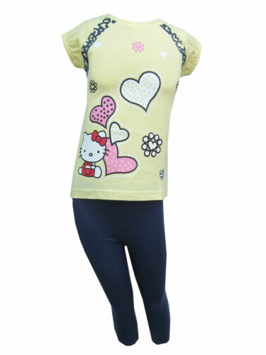 Hello Kitty Girls PJ/'s//Pyjamas//Nightwear Short Sleeved Ages 18 Months 8 Years