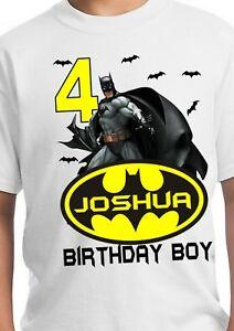 Image Is Loading Batman Birthday Superhero Party Shirt