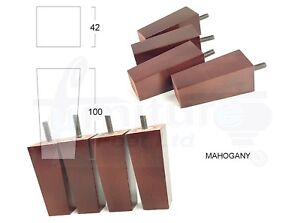 4x Wooden Replacement Feet Furniture Legs For Sofas Stools
