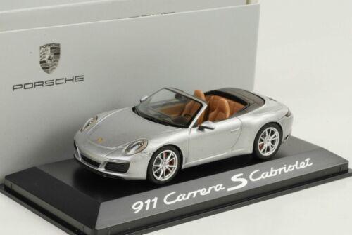 1:43 Porsche 911 991 carrera s cabriolet gtsilver metalizado Herpa WAP Dealer