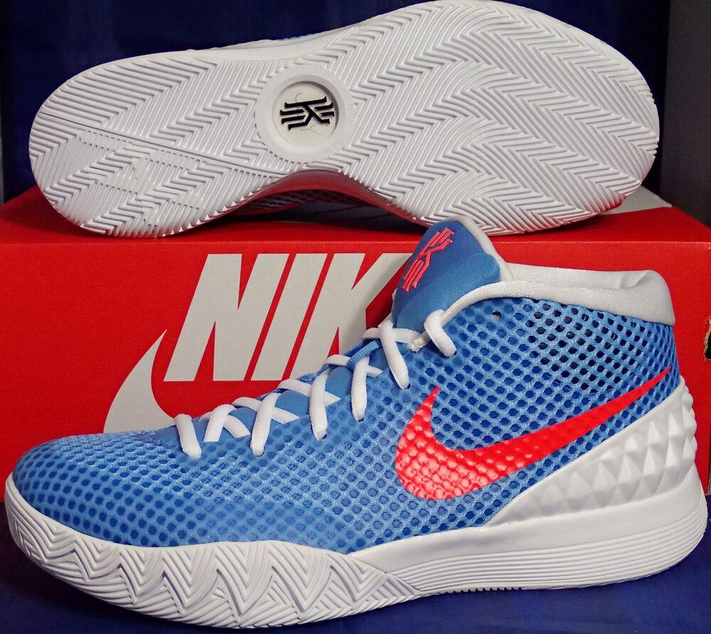 Femmes Nike Zoom Kyrie 1 iD Light Bleu Bright Crimson BLANC Homme  Chaussures de sport pour hommes et femmes