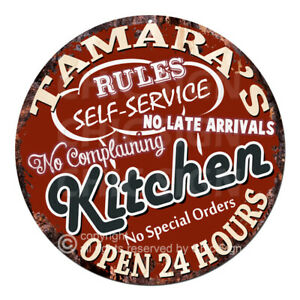 CWKR-0229-TAMARA-039-S-KITCHEN-Funny-Rules-Sign-Mother-039-s-day-Gift-Ideas-For-Woman