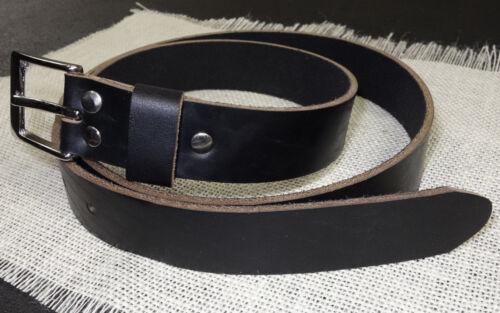 "Flat N/' Simple Horween Chromexcel 9oz Men/'s Black Leather Belt 1 1//2/"" Wide"