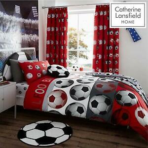 Kids-Football-Red-Duvet-Cover-and-Bedroom-Range-by-Catherine-Lansfield