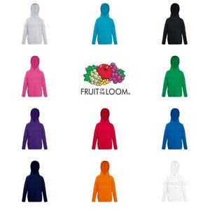 Fruit-of-the-Loom-Boys-Girls-Lightweight-Hoodie-Hooded-Sweatshirt