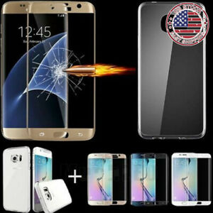 For-Samsung-S9-S7-Edge-Note-9-Full-Cover-Tempered-Glass-Screen-Saver-Soft-Case