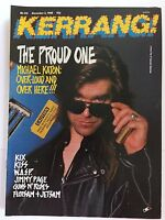 KERRANG MAGAZINE  NO 216  DECEMBER 3 1988  MICHAEL KATON     LS