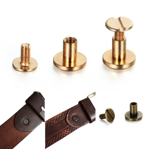 Details about  /10 piezas Correa remaches tornillo sólido de perno de tornillos de cabeza