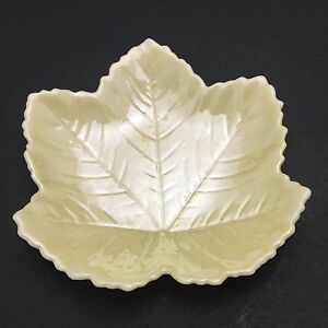 Image Is Loading Belleek Fine Irish Porcelain Leaf Dish Pin Trinket