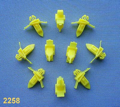 (2258) 10x Zierleistenklammern für Toyota / Lexus Klip für Zierleisten gelb