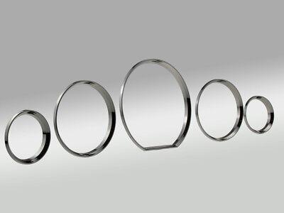 Black-Chrom Tachoringe Dial-Rings Tacho Ringe Mercedes S-Klasse W140 SL55 CLIPSE