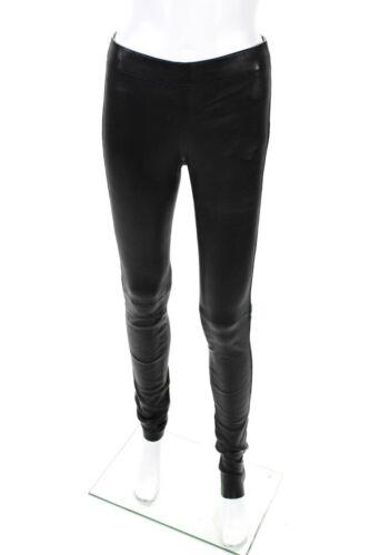 Joseph Womens Leather Leggings Black Size French 3