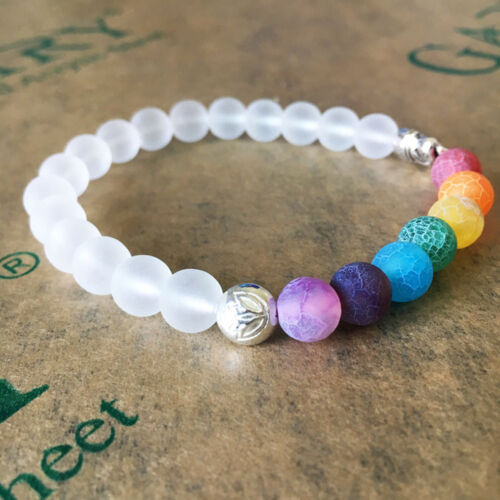 Charm Frosted Elephant Beaded Bracelet Yoga Energy Bracelet Gift 6A