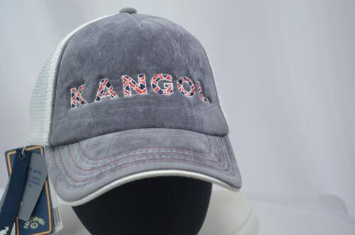 ... Kangol Trucker Mesh Baseball Hat Cap GRAY M00974 ONE SIZE S M SNAPBACK  NEW NWT e5ed367e1e3d