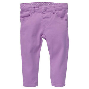 Baby-Girls-New-With-Tags-Light-Mauve-Stretch-Jeans-Pants-Size-3-18-Months