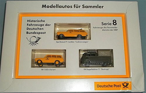 Deutsche Poste Opel P1 VW 1500 VW T1 DoKa BREKINA 1 87 å