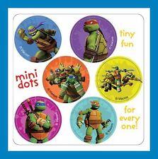 96 Teenage Mutant Ninja Turtles Dot Stickers (16 Sheets) Party Favors