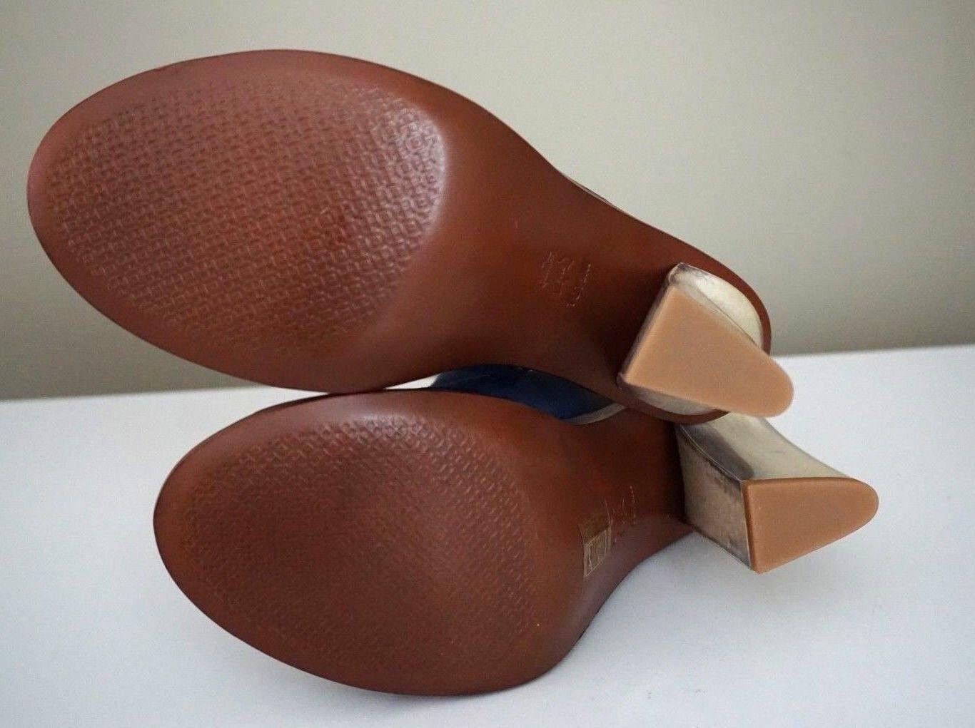 Tory Burch Gemini Link 110mm Open-Toe Navy Suede Sandal Sandal Sandal Stiefelies Größe 10.5 252cfa