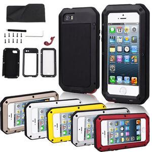 Waterproof Shockproof Gorilla Metal Cover Case For iPhone X 8 7 6S plus 5S 4S