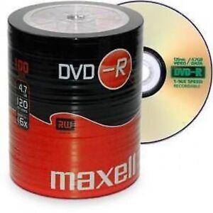 Maxell-DVD-R-100-Pack-DVD-grabables-discos-en-blanco-16x-4-7-GB-120-minutos-de-vendedor-del-Reino