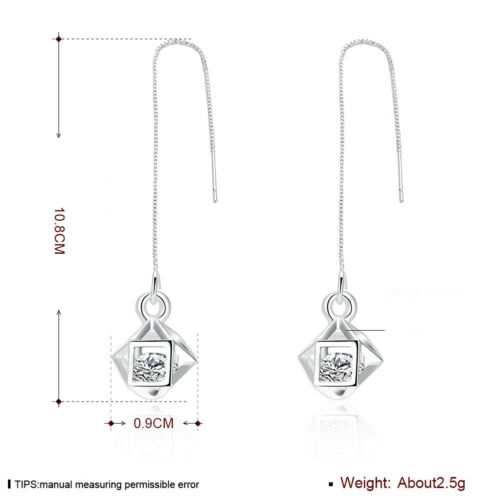 36 Style Women/'s Fashion Jewelry 925 Silver Lovely Women Earrings Dangle EB919