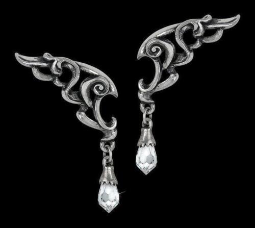 Alchemy gothic pendientes alas de la eternidad Gota De Cristal Ladies Fashion Jewellery