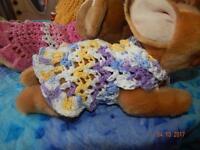 Dog Apparel violet Skies 100% Cotton Dress W/ruffle Skirt Xxxs
