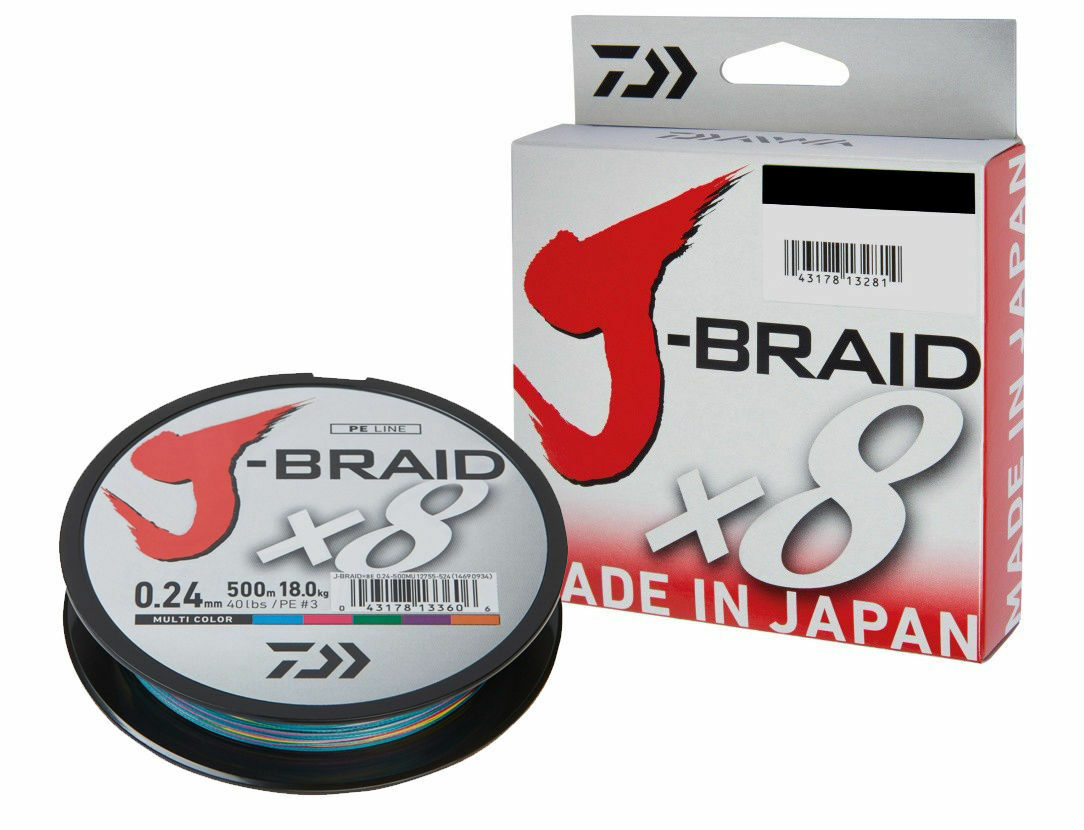 Daiwa J-Braid X8 300m   Multi color   PE Trenzados   for every fishing technique