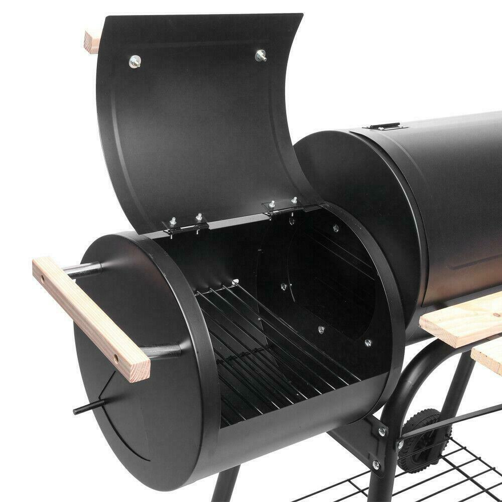 Image 41 - 45-034-Outdoor-Charcoal-Pit-Patio-Backyard-Meat-Cooker-Smoker-BBQ-Grill-Garden-Camp