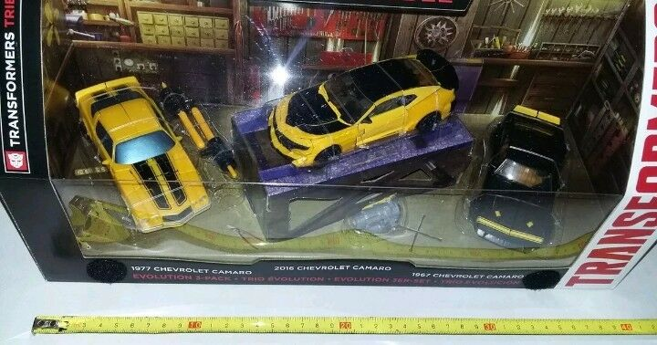 Transformers Tribute 3 Pack Bumblebee Evolution Camaro deluxe Hasbro Hasbro Hasbro Exclusive b82dce