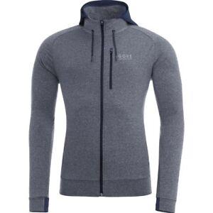 GORE-Running-Wear-ESSENTIAL-Hoody-black-iris-melange-Men-039-s-M-NWT-MSRP-130