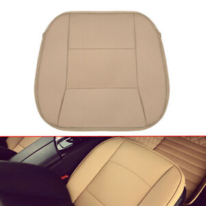 Universal-Beige-PU-leather-Deluxe-Car-Front-Seat-Cover-Breathable-Seat-Cushion