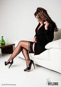 English-Seam-Stockings-Nylon-Stockings-seamed-Cuban-Black-Size-11
