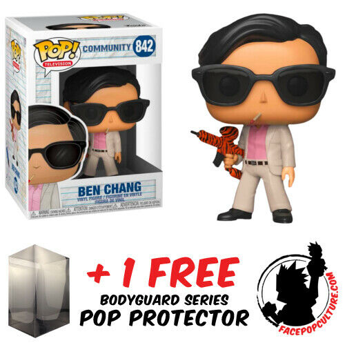 FUNKO POP COMMUNITY BEN CHANG #842 VINYL FIGURE + FREE POP PROTECTOR