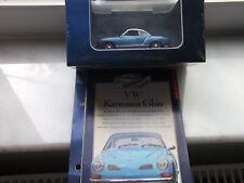 Atlas IXO Auto Klassiker VOLKSWAGEN VW Karmann Ghia Blau in Vitrine mit OVP 1:43
