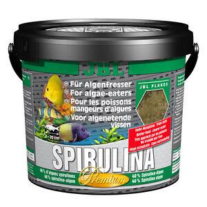 Jbl Spirulina 5,5 litres - les mangeurs d'algues nourrissent les flocons d'algues flocons de poisson