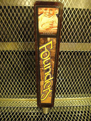 FOUNDERS BREWING Co MI ~ Breakfast Stout Baby ~ Beer Tap Handle 3 Sided B