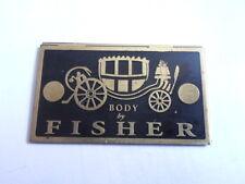Scudo Piastra Carrozzeria Fisher corpo cadillac chevy dodge Auto d'epoca S14