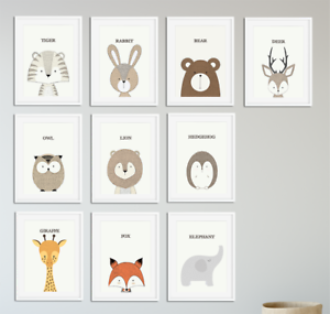 Image Is Loading Nursery Animal Prints Kaboo Neutral Baby