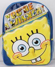 "Spongebob Squarepants Big Face 16""  Large Backpack Kids Boys Girls School Bag"