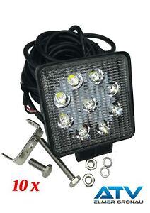 7m Kabel Offroad Ip67 Offensichtlicher Effekt Auto & Motorrad: Teile 10 X 9-32v Eu-qualität Led Arbeitsscheinwerfer Inkl Arbeitsleuchten