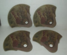 4 BEAUTIFUL HAND FANS WITH IMAGES OF JESUS FROM SNYDER FUNERAL HOME CLINTON IOWA