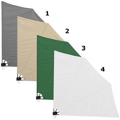 casa.pro® Balkonfächer Sichtschutz Grau Seiten Markise Balkon Sonnen Wind Schutz