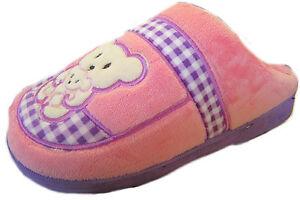 R15B-Ladies-Teddy-Bear-Design-Pink-amp-Purple-Slippers